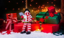Regali di Natale, decorazione di Natale Fotografia Stock Libera da Diritti