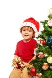 Regali di Natale di apertura Fotografia Stock