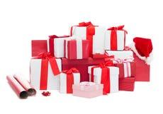 Regali di Natale e decorazione Fotografia Stock Libera da Diritti