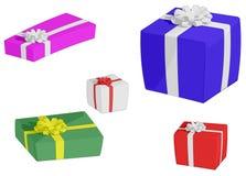 Regali di Natale (isolati) Fotografia Stock