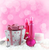 Regali di Natale, prodotti di bellezza Immagini Stock