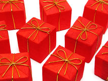 Regali di Natale rossi Immagine Stock Libera da Diritti