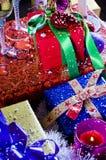 Regali di Natale spostati Fotografie Stock