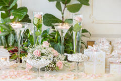 Regali di nozze per l'ospite Fotografia Stock