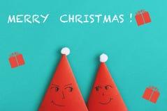 Regali e cartoline d'auguri per il Natale 2019 fotografia stock libera da diritti