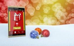 Regali online di Natale Fotografia Stock