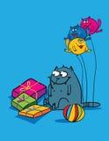 Regali per il gatto Immagine Stock