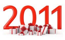 Regali per il nuovo anno 2011 Fotografia Stock Libera da Diritti