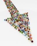 Regali, punto della freccia Fotografia Stock