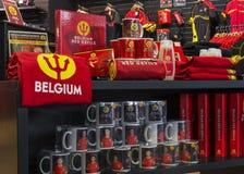 Regalier av det belgiska nationella fotbolllaget. Royaltyfri Fotografi