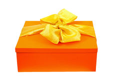 Regalo arancione fotografie stock