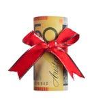 Regalo australiano dei soldi Immagine Stock Libera da Diritti