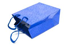 Regalo blu Immagine Stock Libera da Diritti