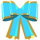 Regalo blu dell'arco Immagine Stock
