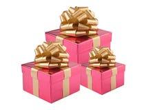 Regalo Boxes Fotos de archivo libres de regalías