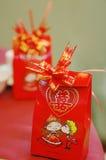 Regalo chino del banquete de la boda Fotografía de archivo