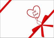 Regalo con amor Imágenes de archivo libres de regalías