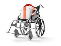Regalo con la silla de ruedas libre illustration