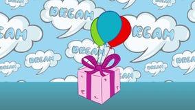 Regalo con los globos y los sueños libre illustration