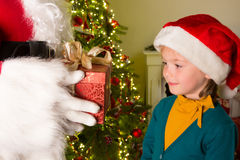 Regalo dal Babbo Natale Fotografia Stock Libera da Diritti