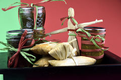 Regalo de la comida del tamal Fotografía de archivo