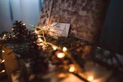 Regalo de la decoración de la Navidad Fotografía de archivo