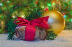 Regalo de la decoración de la Navidad foto de archivo