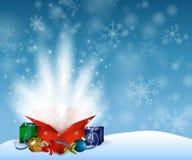 Regalo de la magia de la Navidad stock de ilustración
