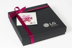 Regalo de la marca de LG para Europa Fotografía de archivo