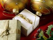 Regalo de la Navidad Imagenes de archivo