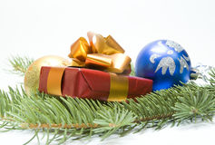 Regalo de la Navidad Foto de archivo libre de regalías