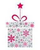 Regalo de la Navidad de los copos de nieve Imagen de archivo libre de regalías