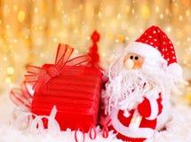 Regalo de la Navidad de Santa Fotografía de archivo