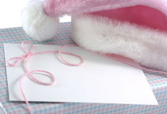 Regalo de la Navidad del bebé fotografía de archivo