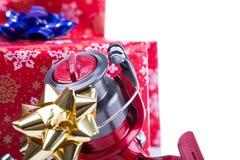 Regalo de la Navidad en la caja para los pescadores Foto de archivo
