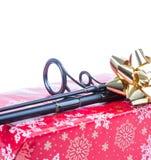 Regalo de la Navidad en la caja para los pescadores Foto de archivo libre de regalías