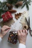 regalo de la Navidad en todavía de la Navidad vida Imagen de archivo