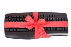 Regalo de la Navidad - teclado Imagen de archivo libre de regalías