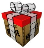 Regalo de la película Fotos de archivo libres de regalías