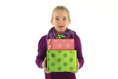 Regalo de la sorpresa de la Navidad Foto de archivo libre de regalías