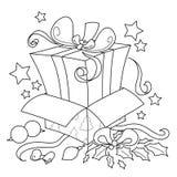 Regalo de la sorpresa para la Navidad Imágenes de archivo libres de regalías