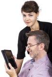Regalo de la tableta para el papá Imagenes de archivo