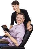 Regalo de la tableta para el papá Foto de archivo libre de regalías