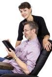 Regalo de la tableta para el papá Imagen de archivo