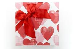 Regalo de la tarjeta del día de San Valentín del regalo del Año Nuevo de la caja de regalo Fotografía de archivo