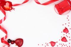Regalo de la tarjeta del día de San Valentín Fotos de archivo