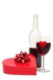 Regalo de las tarjetas del día de San Valentín Foto de archivo