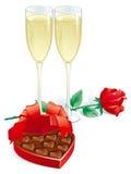 Regalo de las tarjetas del día de San Valentín Imágenes de archivo libres de regalías