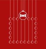 Regalo de Navidad con las bolas Imagenes de archivo