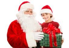 Regalo de Navidad de Papá Noel Imágenes de archivo libres de regalías